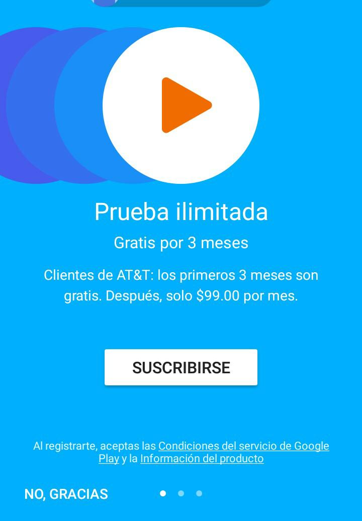 Google Play Music: 3 meses gratis para  clientes AT&T (Usuarios nuevos)