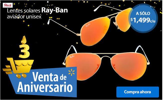 Walmart en línea: lentes Ray-Ban a $1,499