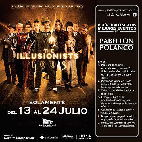 Pabellón Polanco: Boletos gratis para Illusionists o Sinfónica  con compra mínima