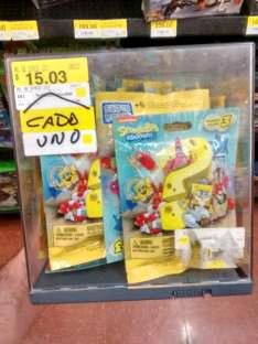 Walmart: Mega Blocks Bob Esponja serie 3 a $15.03