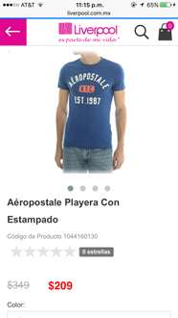 Gran Barata de Liverpool en línea: Variedad de playeras Aeropostale y Vans $179 y $209