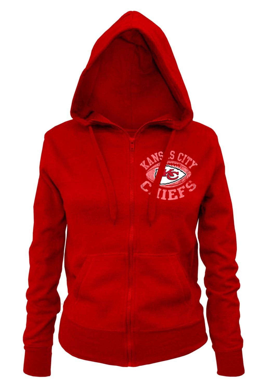 Amazon: Hoddie NFL Kansas City Chiefs Ladies Zipped Hooded Fleece, mediana, roja