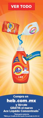 HEB en línea: Detergente Ace liquido GRATIS comprando en línea