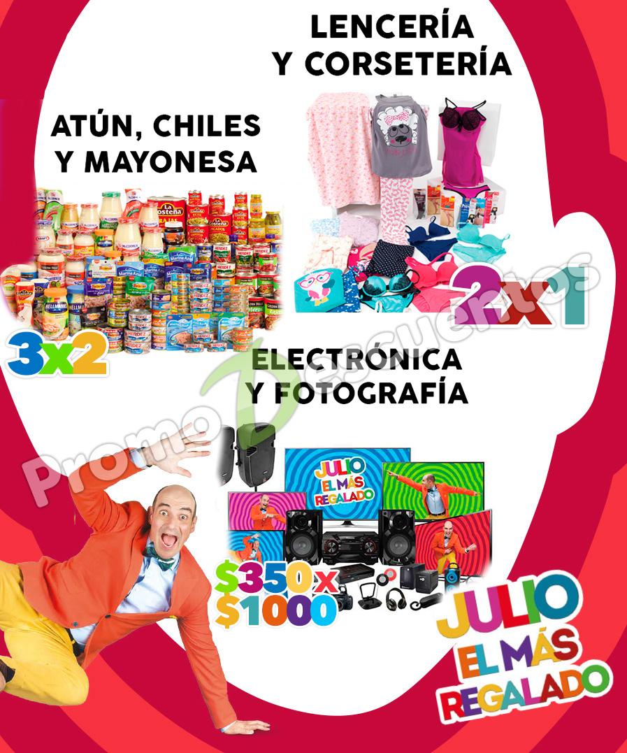 Julio Regalado en Soriana y Comercial Mexicana: $350 por cada $1,000 en electrónica, 2x1 en lencería y más