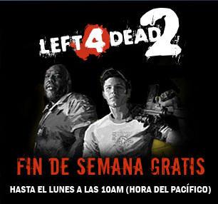 Juegos PC: Left 4 Dead 1 y 2 a $4.99 US y fin de semana gratis