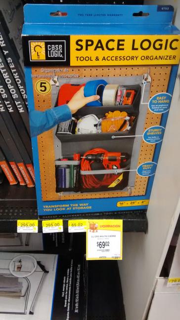 Walmart: organizador case logic a $69.02