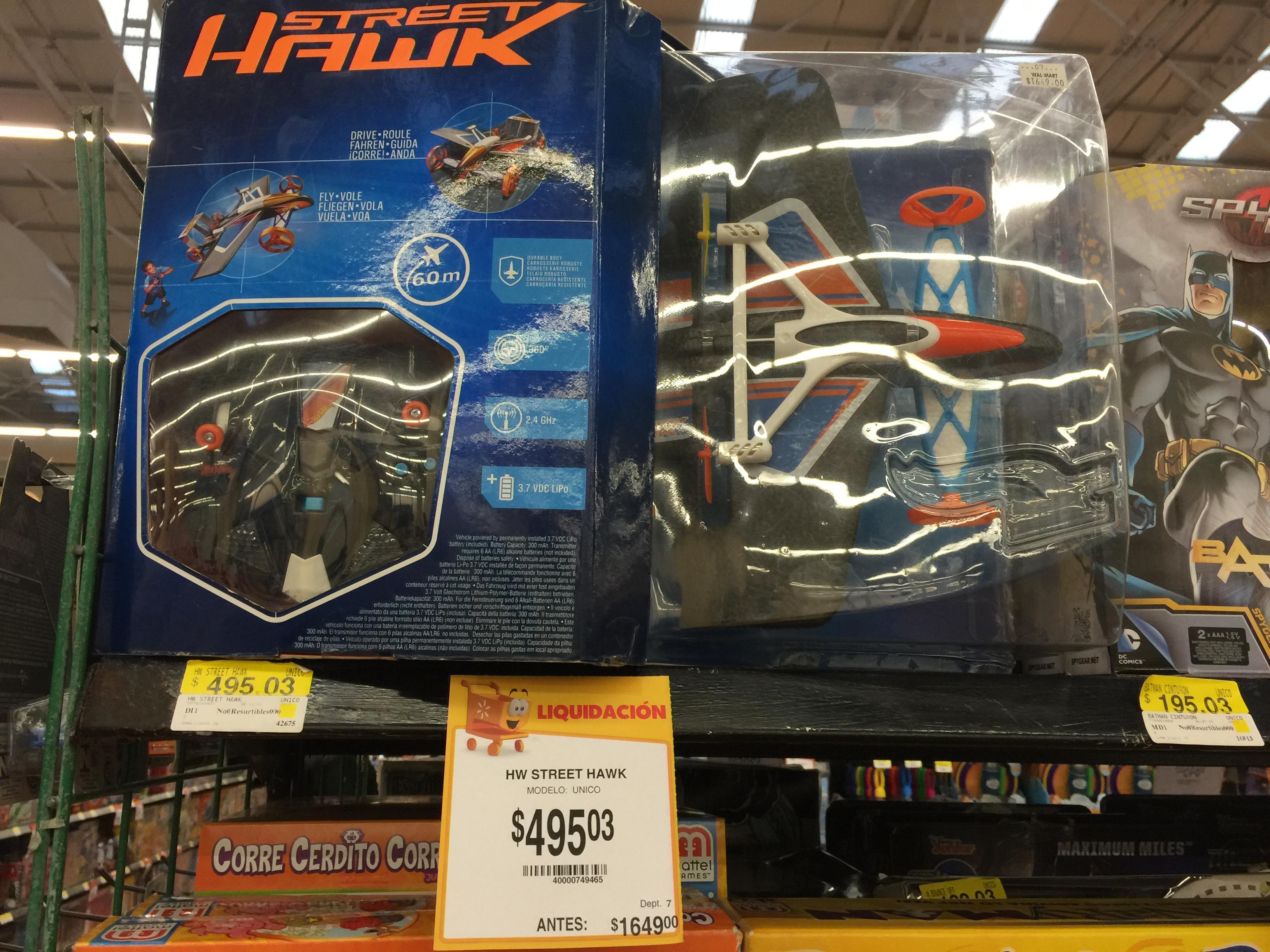 Walmart Buenavista: Hasta 70% de descuento en juguetes, Hot Wheels Street Hawk a $495.03, Tostador para 4 rebanadas a $219.01