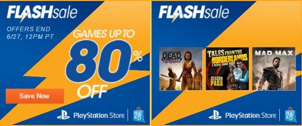 Playstation Network: Venta Flash de Junio, juegos hasta con 80% de descuento