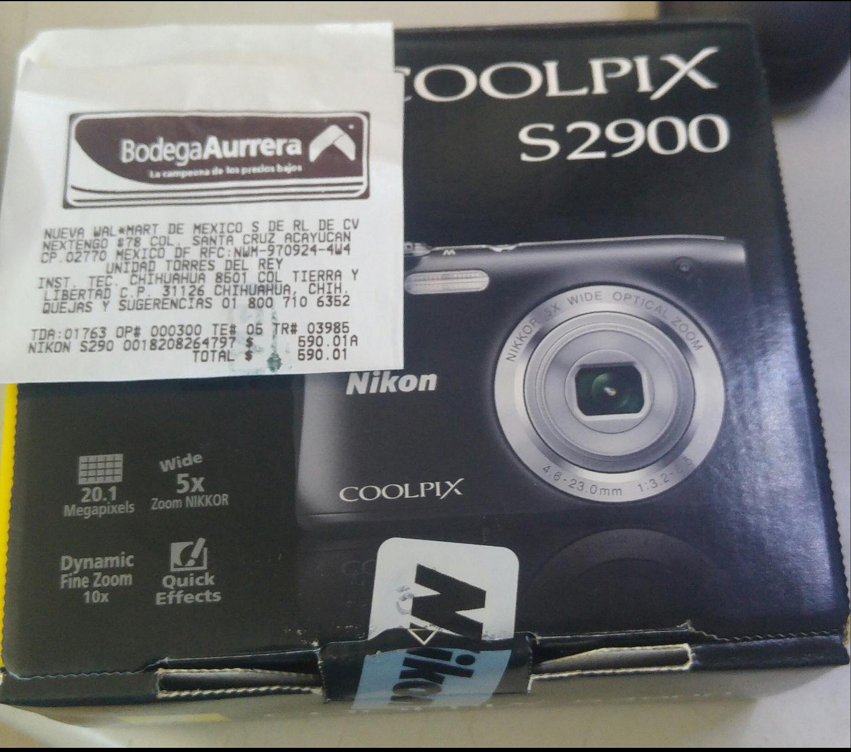 Bodega Aurrerá: Camara Nikon Coolpix s2900 a $590.01