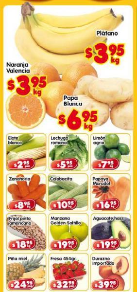 Frutas y verduras en HEB: naranja $3.95, papa $6.95 y más