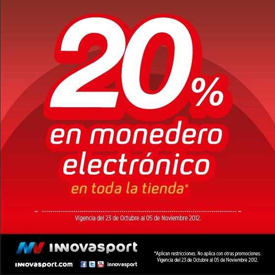 Innova Sport: 20% en monedero electrónico en toda la tienda