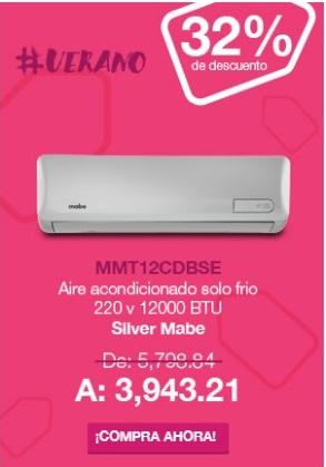 Tienda Mabe en línea: Minisplit MMT12CDBSE 220 v 12000 BTU Silver