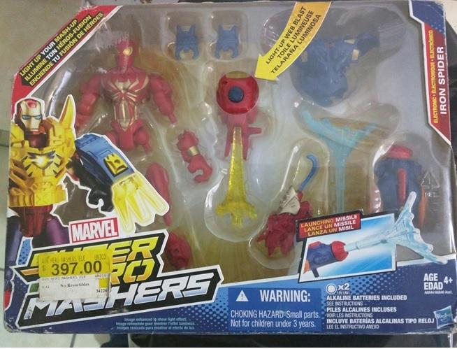 Bodega Aurrerá Ayotla: Marvel Hero Mashers Iron Spider $397 a $85.02