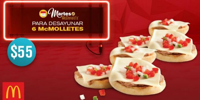 McDonald's: 6 McMolletes x $55