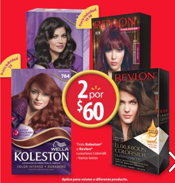 Walmart en línea: 2 Tintes Koleston o Revlon Luxurious Colorsilk x $60