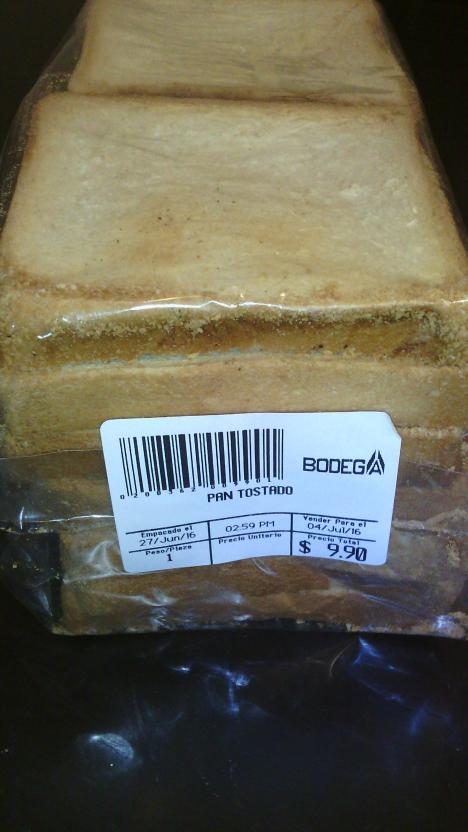 Bodega Aurrerá: pan tostado a $9.90