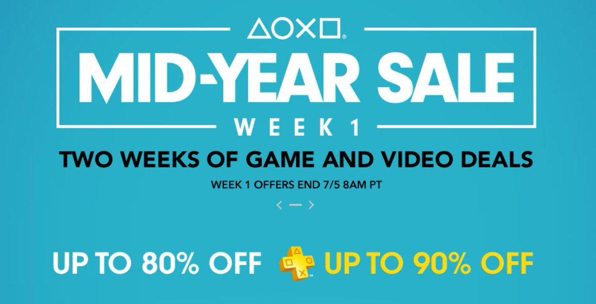 Playstation network - Mid Year Sale ,Juegos con hasta el 90% de descuento