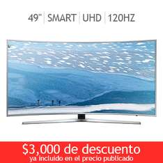 "Costco en línea: Samsung LED pantalla curva 49"" Ultra UHD Smart TV 120Hz UN49KU6500FXZX"