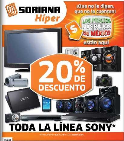 Folleto Soriana octubre 19: 20% de descuento en todo Sony, 3x2 en refrescos Pepsi y más