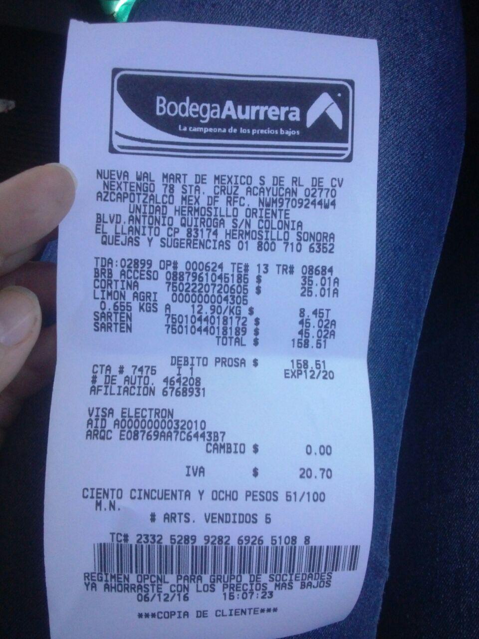 Bodega Aurrerá Hermosillo Oriente: Sartén vasconia a $45.02