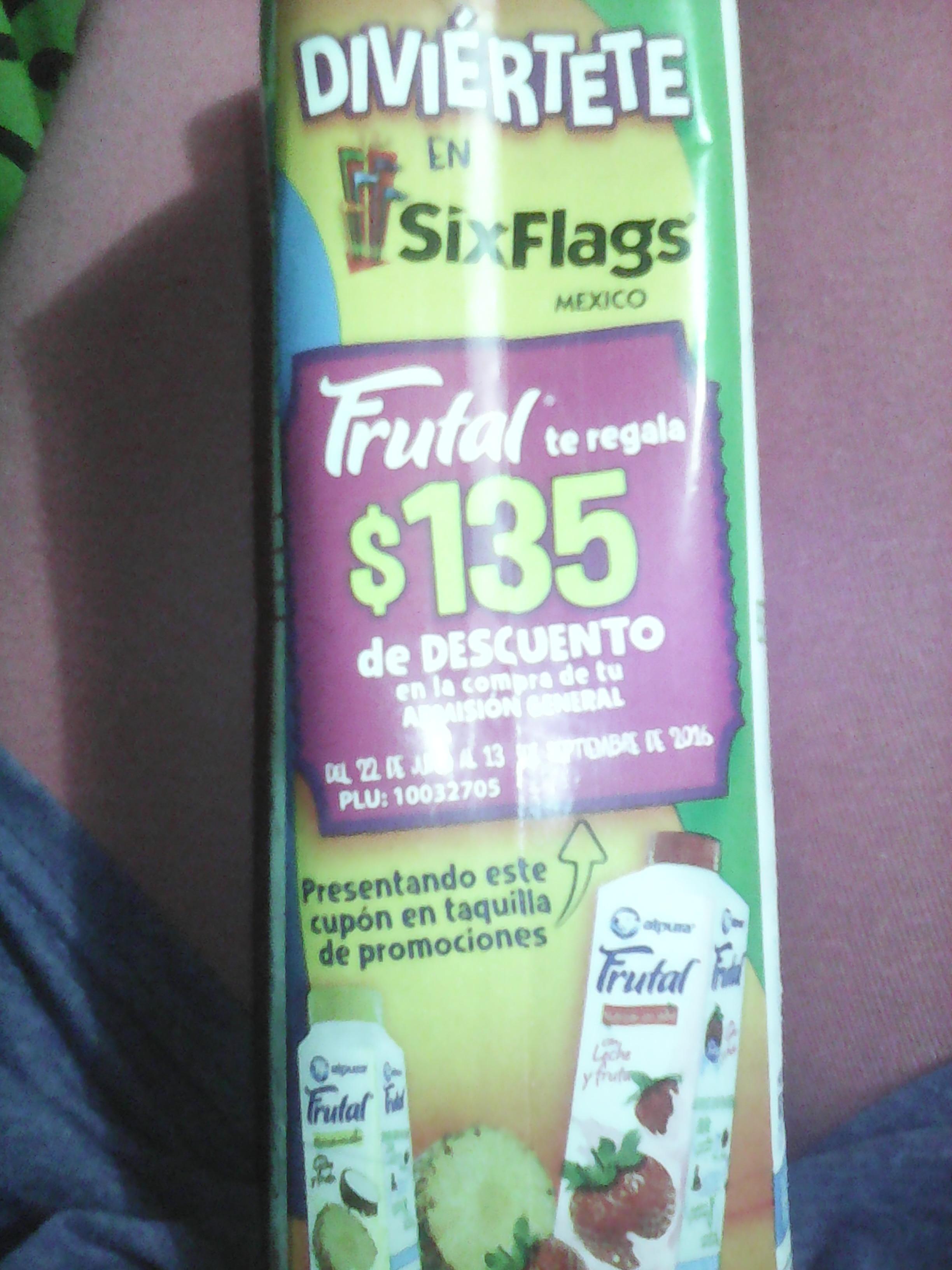 Alpura Frutal: te regalan un descuento de $135 en Six Flags