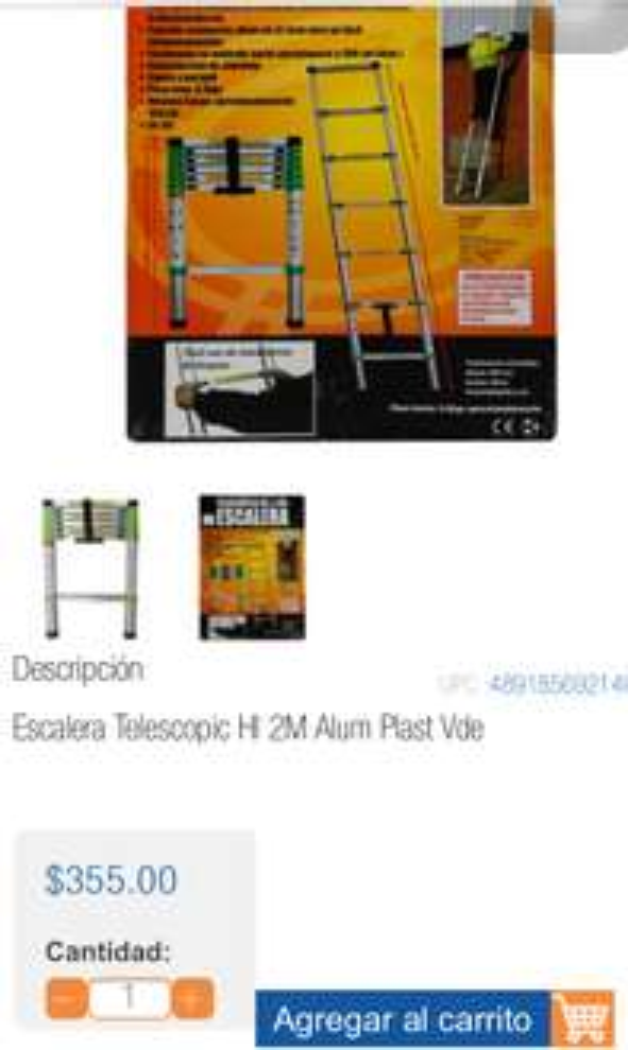 Chedraui Villahermosa Olmeca: Escalera telescópica a $355