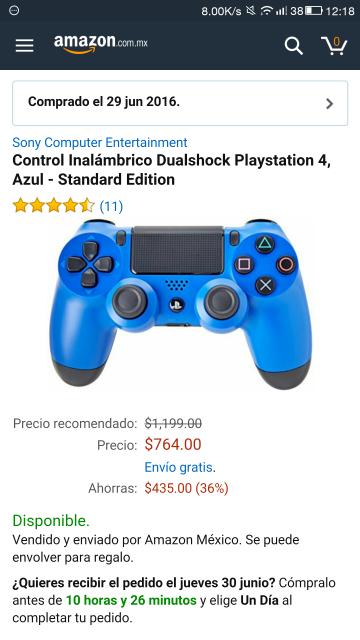 Amazon: Sony Control DualShock 4 para PlayStation 4
