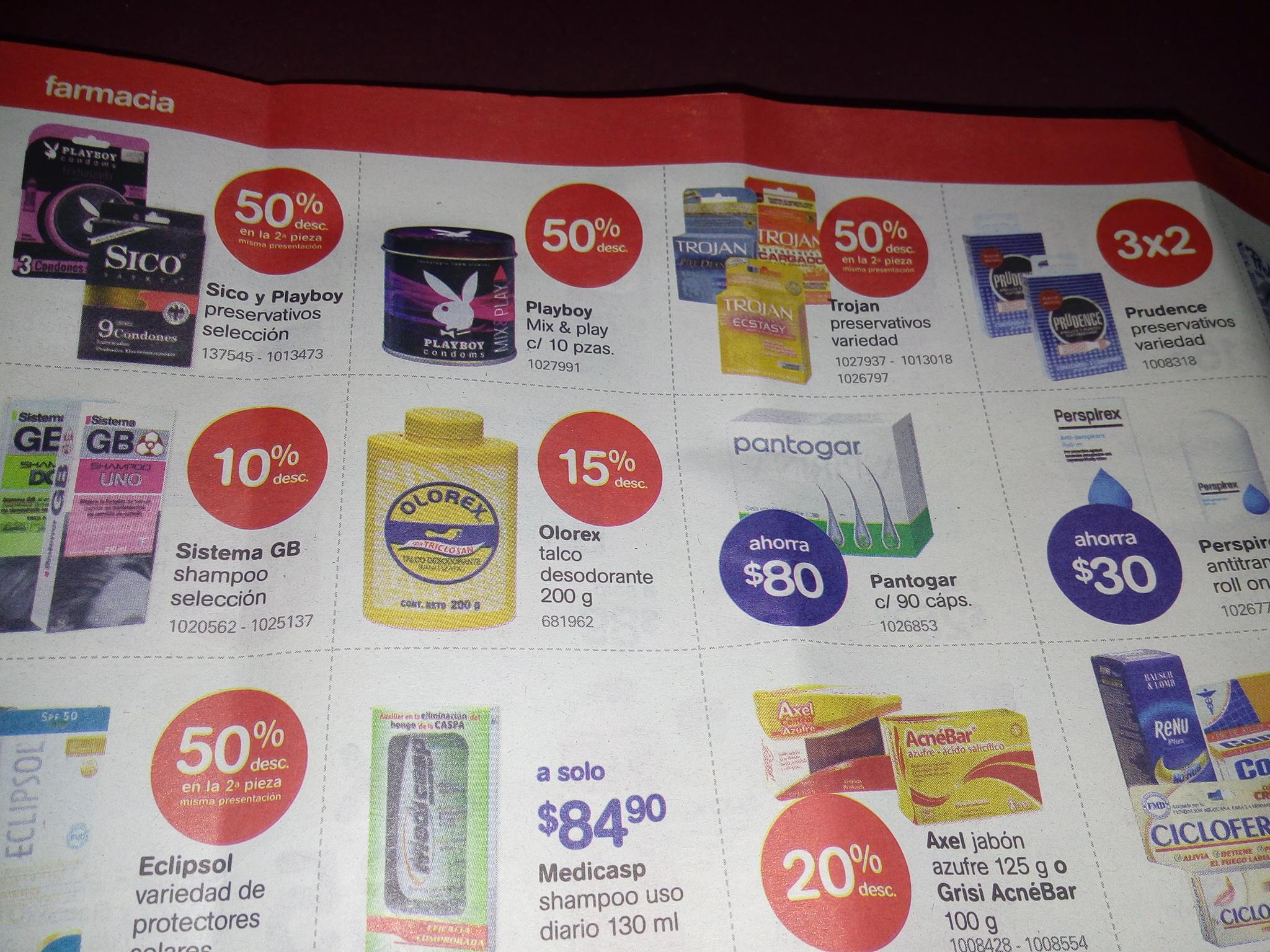 Farmacia Benavides: preservativos Playboy 50% de descuento