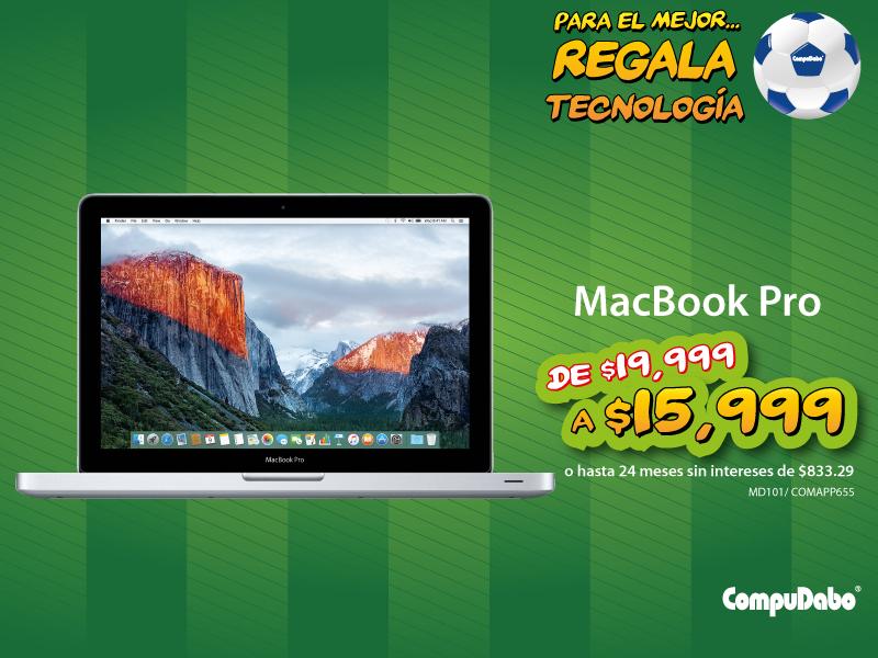 "Compudabo: MacBook Pro 13.3"" a $15,999"