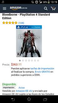 Amazon: Bloodborne a $363, Until Dawn a $354, The Last of Us a $373