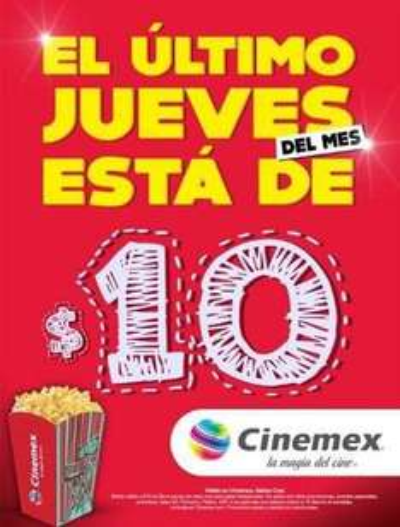 Cinemex Veracruz: Solo Hoy Entrada a $10 Pesos Sala tradicional