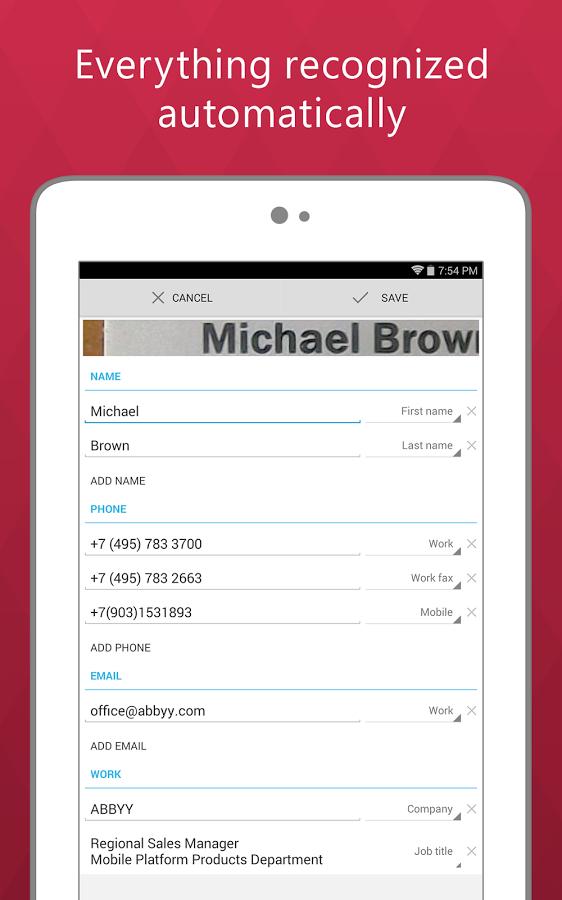 Google Play: Business Card Reader Pro de $270 a $18 (93% de descuento)