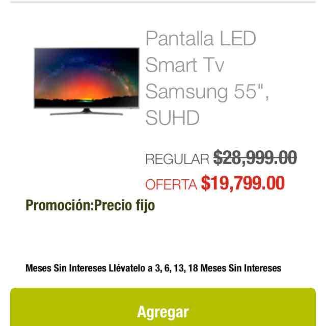 "Soriana: Pantalla LED Smart Tv Samsung 55"", SUHD serie 7 SUHD NANO CRISTAL"