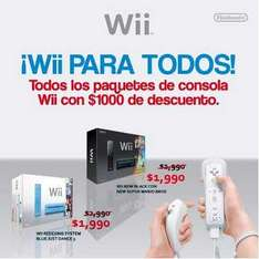 Game Planet: Wii a $1,990. Varias versiones.