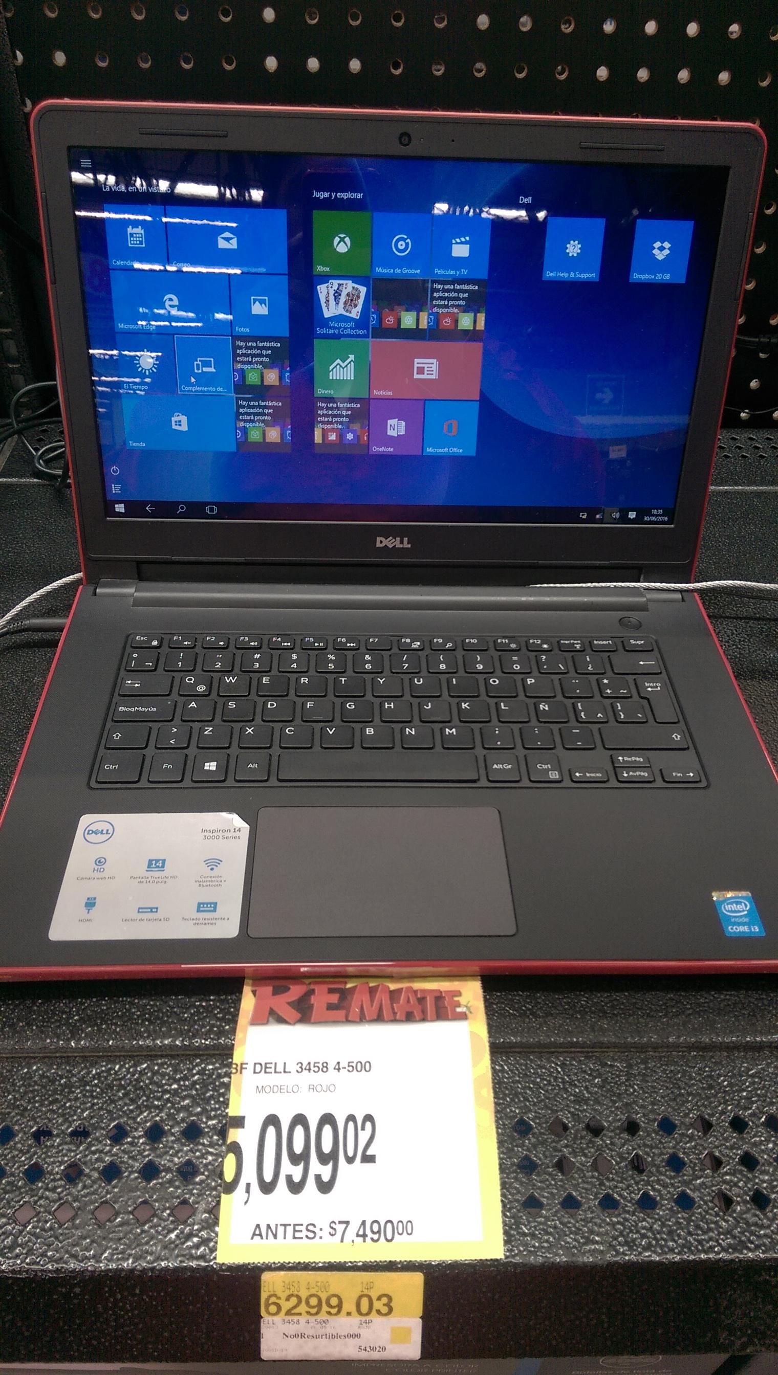 Bodega Aurrerá: laptop Dell con Core i3 a $5,099.02