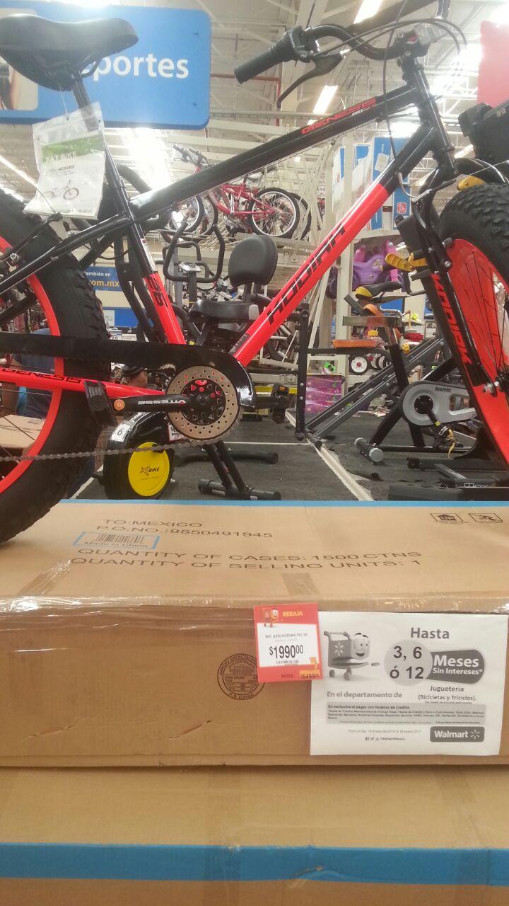 Walmart: remate de bicicleta R26 de $5,499.00 a $1,990.00 (no liquidación)
