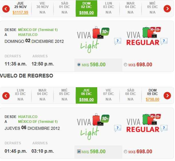 Vivaaerobus: destinos seleccionados a $598 sencillo