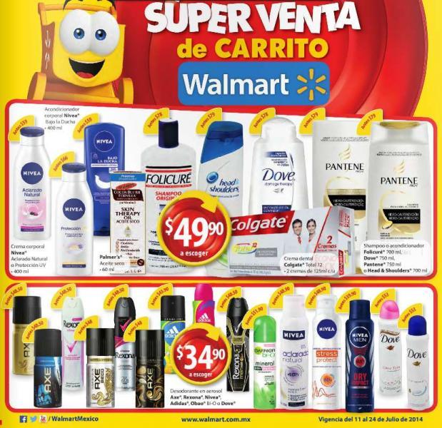 Folleto de ofertas en Walmart del 11 al 24 de julio