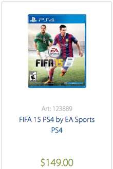 Sam's Club en linea: Fifa 2015 para , PS3, PS4 y Xbox One a $149