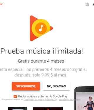 Google Play Music+YouTube Red ilimitado por 4 meses (se necesita VPN)