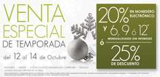 Venta Especial de Temporada The Home Store: 25% de descuento o 20% en monedero y hasta 12 MSI