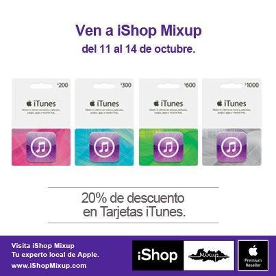 iShop Mixup: 20% de descuento en tarjetas iTunes