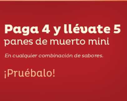Pastelería El Globo: 5x4 en pan de muerto mini
