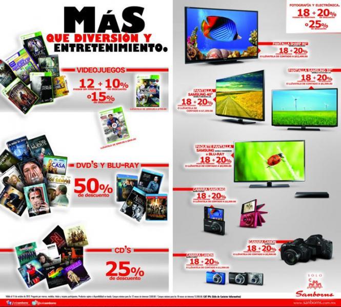 Sanborns: ofertas en electrónica, videojuegos, fotografía, películas y más