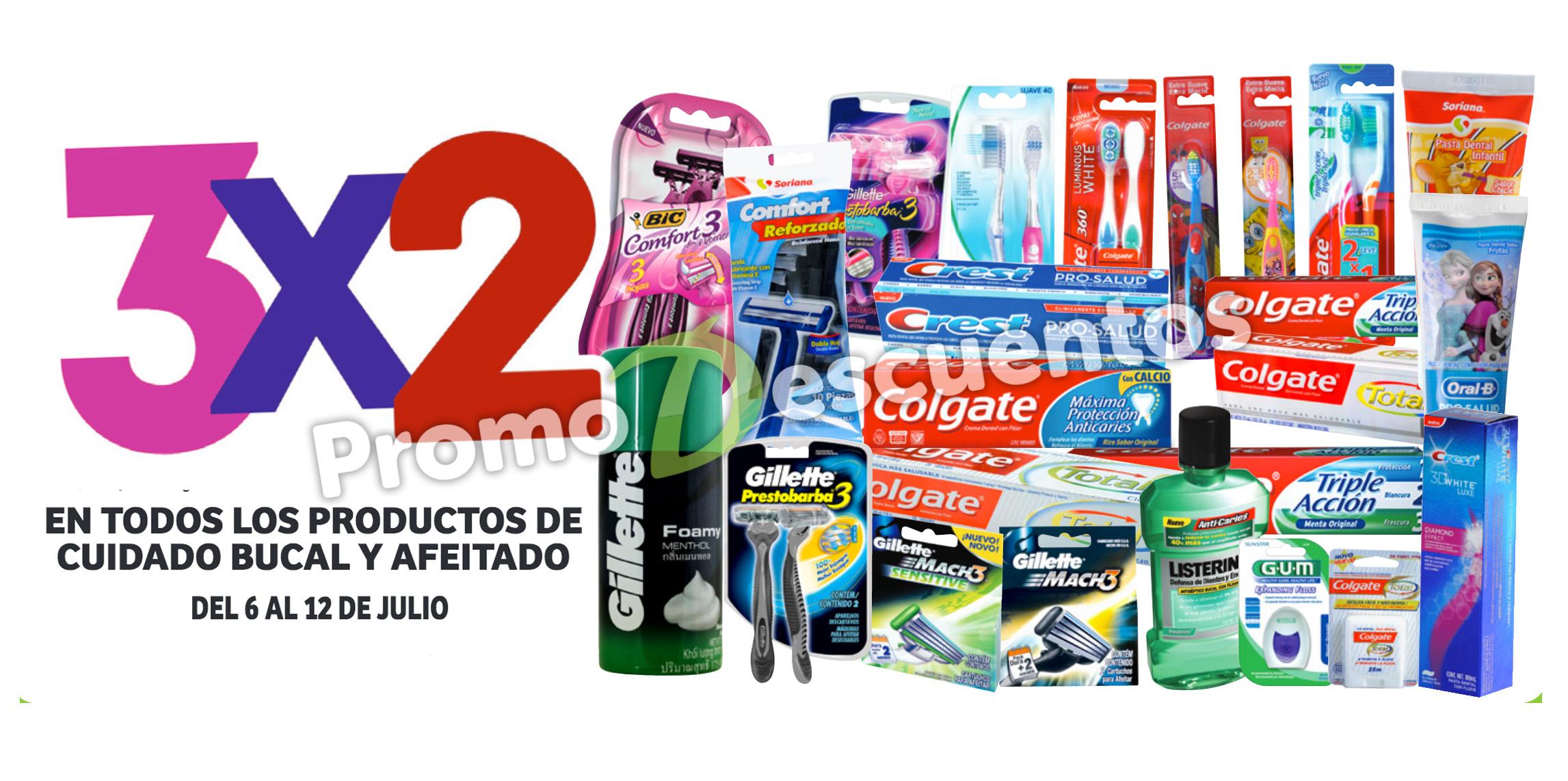 Julio Regalado 2016 en Soriana y Comercial Mexicana: 3x2 en higiene bucal y afeitado