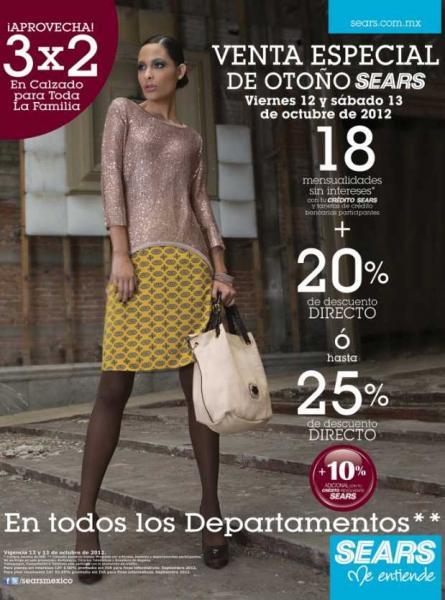 Venta Especial Sears: 20% de descuento y 18 MSI o 25% en todos los departamentos y más