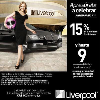 Venta de aniversario Liverpool