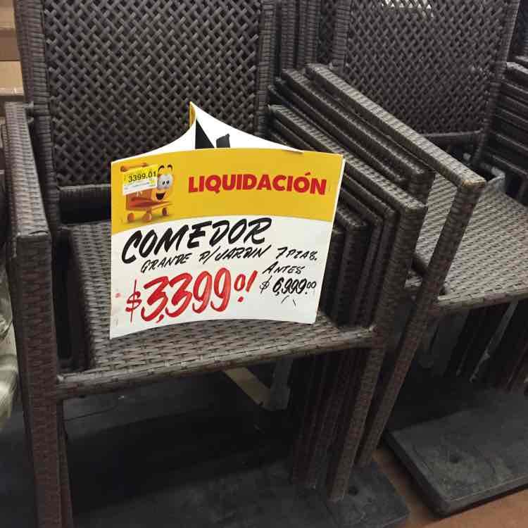 Walmart La Cúspide: comedor para jardín a $3,399.01