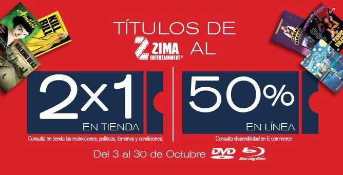 Blockbuster: 50% descuento en películas de Zima y Videomax