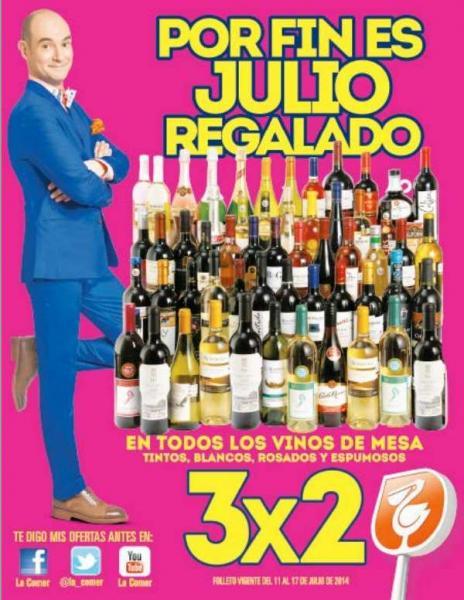 Folleto de ofertas de Julio Regalado en La Comer del 11 al 17 de julio